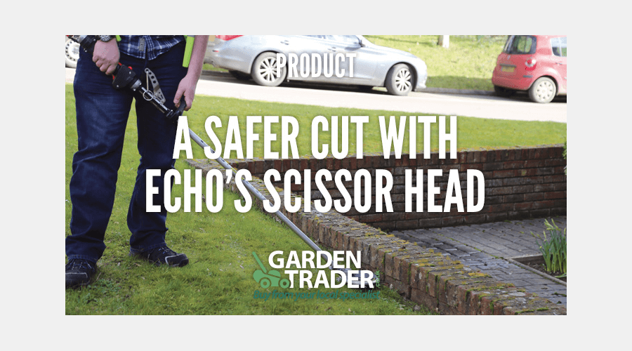 A SAFER CUT WITH ECHO'S SCISSOR HEAD